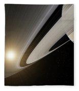 Under The Rings Of Saturn Fleece Blanket