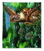 Underwater Mardi Gras Fleece Blanket