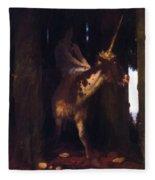 Unicorn 1885 Fleece Blanket