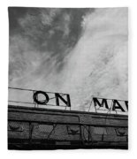 Union Market The Original Sign Washington Dc Fleece Blanket by Edward Fielding