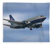 United Airlines Boeing 737-522 Fleece Blanket