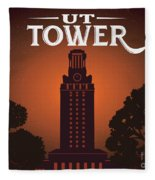 University Of Texas Tower Fleece Blanket