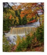 Upper Tahquamenon Autumn Colors -0007 Fleece Blanket