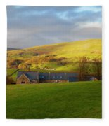 Upper Wensleydale And Lovely Seat From Hawes In Yorkshire Dales Fleece Blanket