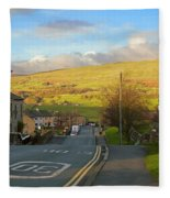 Upper Wensleydale From Hawes Yorkshire Dales National Park Fleece Blanket