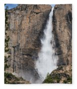 Upper Yosemite Fall Fleece Blanket