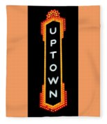 Uptown Signage 4 Fleece Blanket