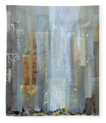Urban Reflections I Night Version Fleece Blanket