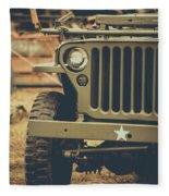 Us Army Jeep World War II Fleece Blanket