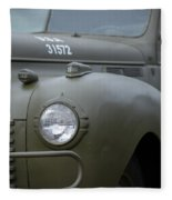 Us Army Staff Car World War II Fleece Blanket