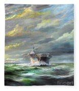 Uss Enterprise Returns To Pearl Fleece Blanket