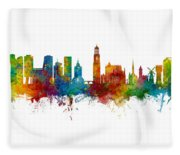 Utrecht The Netherlands Skyline Fleece Blanket
