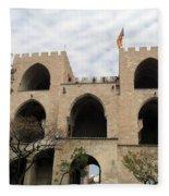 Valencia Fort Building Fleece Blanket