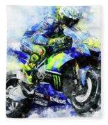 Valentino Rossi - 18 Fleece Blanket