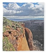 Valley Colorado National Monument Sky Clouds 2892 Fleece Blanket