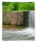 Valley Creek Waterfall Panorama Fleece Blanket