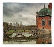 Vallo Castle Wooden Moat Bridge Fleece Blanket