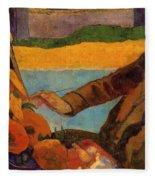 Van Gogh Painting Sunflowers 1888 Fleece Blanket