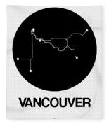 Vancouver Black Subway Map Fleece Blanket