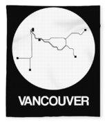 Vancouver White Subway Map Fleece Blanket