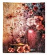 Vase And Flowers Fleece Blanket