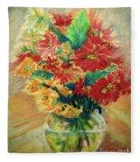 Vase Fleece Blanket
