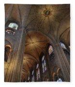 Vaults Of Notre Dame De Paris Before The Fire Of 2019 Fleece Blanket