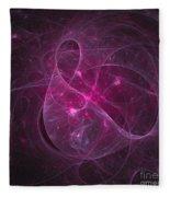 Veiled Pink Fleece Blanket