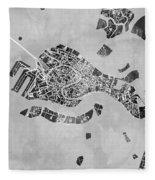 Venice Italy City Map Fleece Blanket
