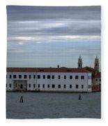 Venice Water Scene Fleece Blanket