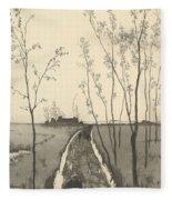 Verfolgung, From The Series Radierte Skizzen Fleece Blanket