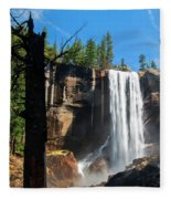 Vernal Fall, Yosemite National Park Fleece Blanket