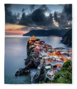 Vernazza Cityscape Fleece Blanket