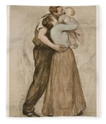 Victor Emile Prouve  French  1858   1943 The Kiss  Le Baiser  1898  Collotype On Wove Paper Fleece Blanket