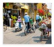 Vietnam Street Fleece Blanket