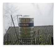 Vietnam Style Water Tower Fleece Blanket