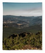 View From Flattop Mountain Trail Fleece Blanket