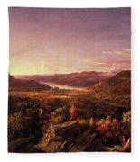 View Of Greenwood Lake, New Jersey Fleece Blanket
