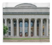 View Of Massachusetts Institute Fleece Blanket