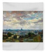 View Of Paris - Digital Remastered Edition Fleece Blanket