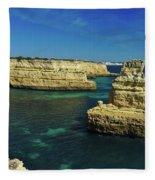 View Of Praia Deserta In Algarve Fleece Blanket