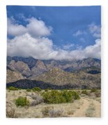 View Of Sandia Mountain Fleece Blanket