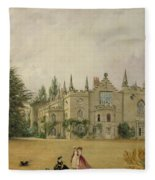View Of Strawberry Hill Middlesex Fleece Blanket
