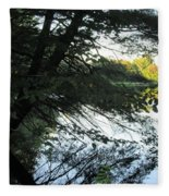View Of The Lake Through The Branches Fleece Blanket