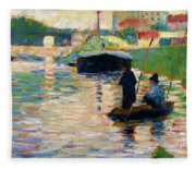 View Of The Seine - Digital Remastered Edition Fleece Blanket