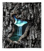 View To Another World  Fleece Blanket by Andrea Kollo