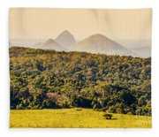 View To The Sunshine Coast Fleece Blanket