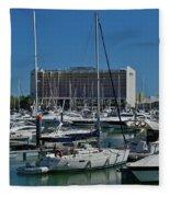 Vilamoura Marina 4 Fleece Blanket