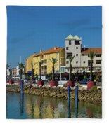 Vilamoura Marina 6 Fleece Blanket