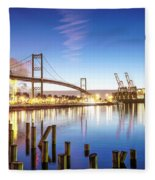 Vincent Thomas Bridge Fleece Blanket